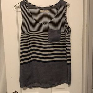 Romy Blue and white striped tank top
